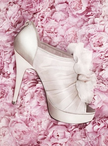 Ruffled Bootie from Vera Wang