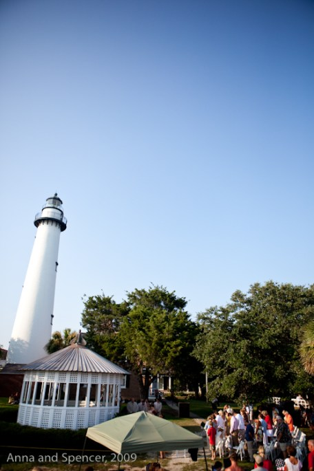 Wedding at St Simons Lighthouse Gazebo