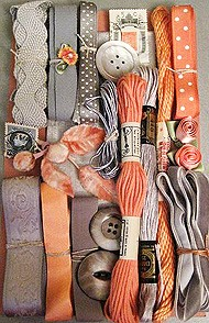 strings ribbons, buttons
