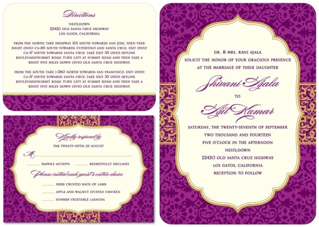 Indian Wedding Invitation