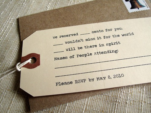 Themed RSVP Card