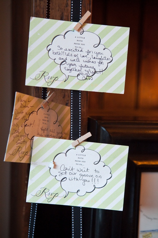 Let Guests Leave A Note on RSVP Card