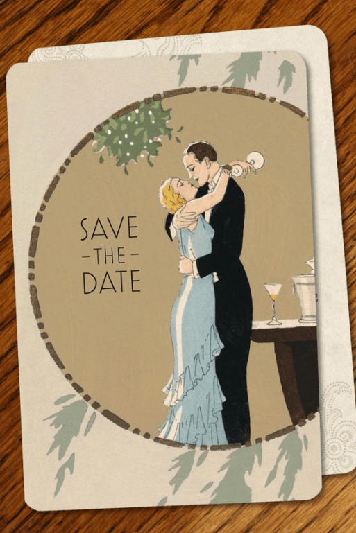 Great Gatsby Inspired Save the Date