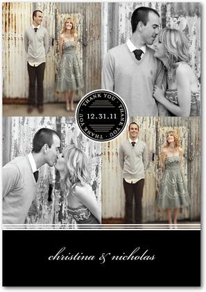 Photo Thank you Card Wedding