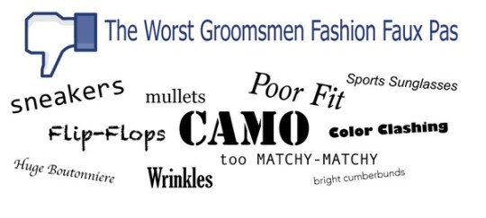 Groomsmen Fashion Mistakes