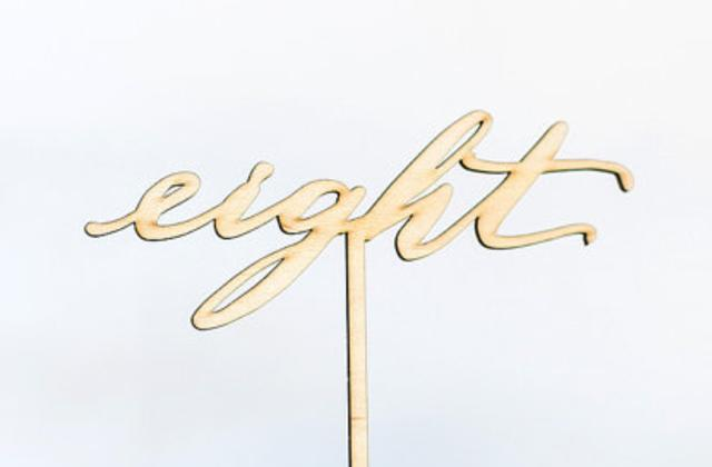 personalized custom laser cut table numbers