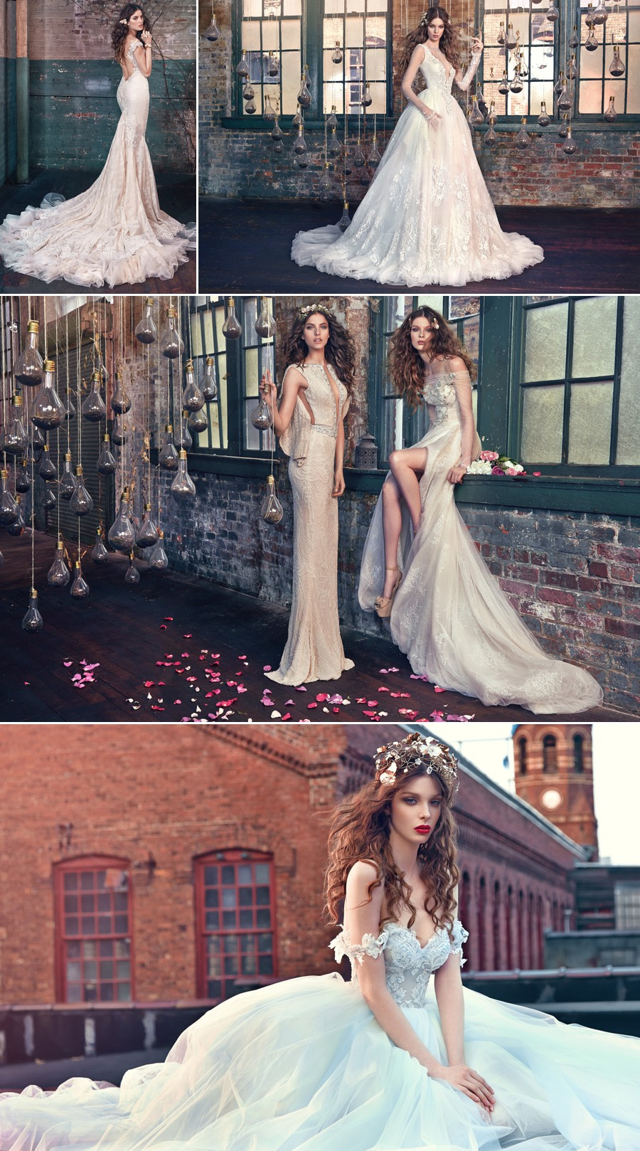 les reves bohemian wedding dress gown sexy