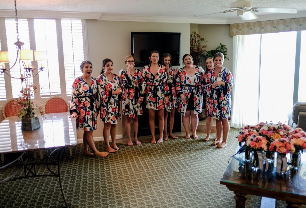 Bridesmaids at Wedding at the King and Prince Resort