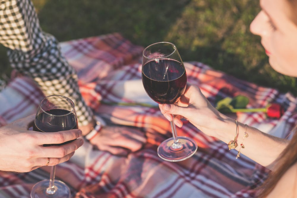vineyard picnic proposal wedding engagement