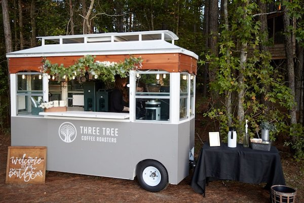 Specialty coffee trailer for wedding reception