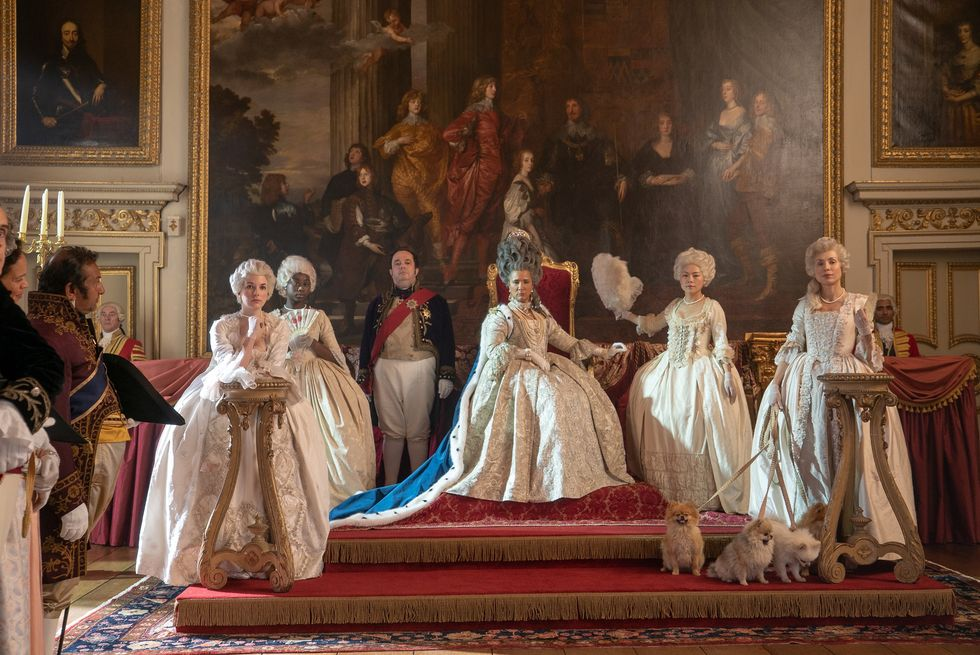 Photograph of the Royal Court from the Netflix show Bridgerton is inspiring Bridgerton themed weddings