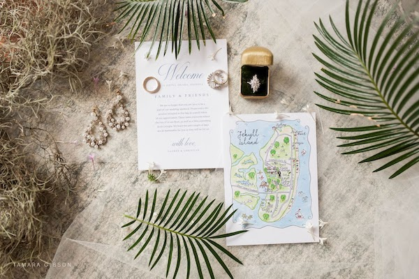 personalized custom wedding invitations for a Jekyll Island wedding