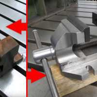 Making a Heavy Duty Steel Bench Vise out of Piece of Rail