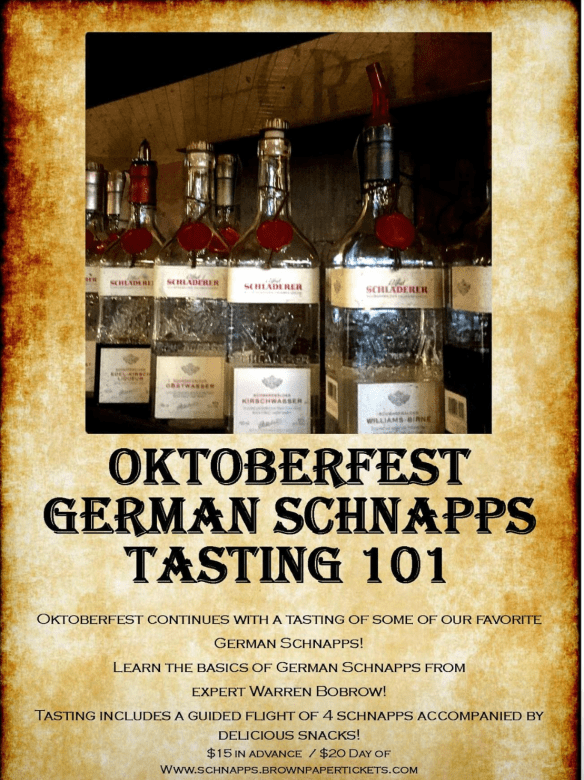 Oktoberfest Schnapps Tasting