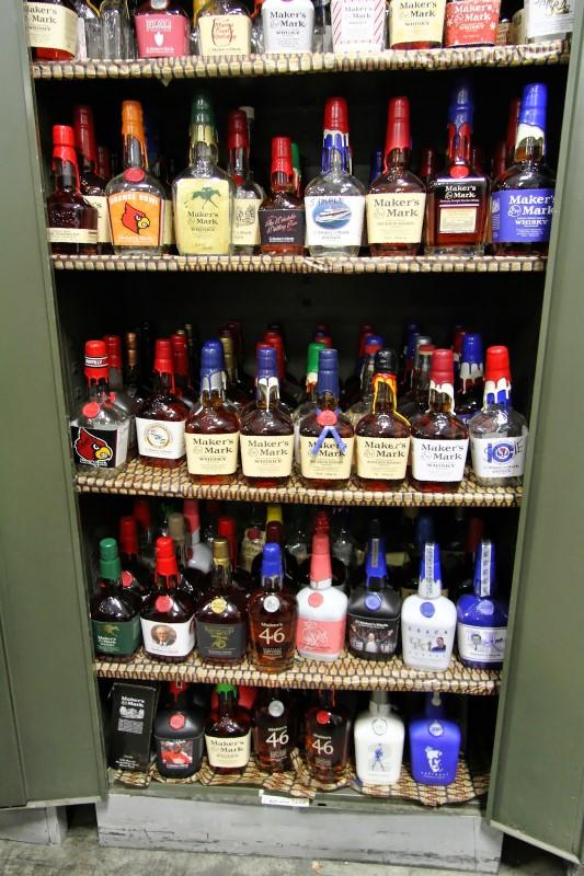 Maker's Mark distillery commemorative bottles
