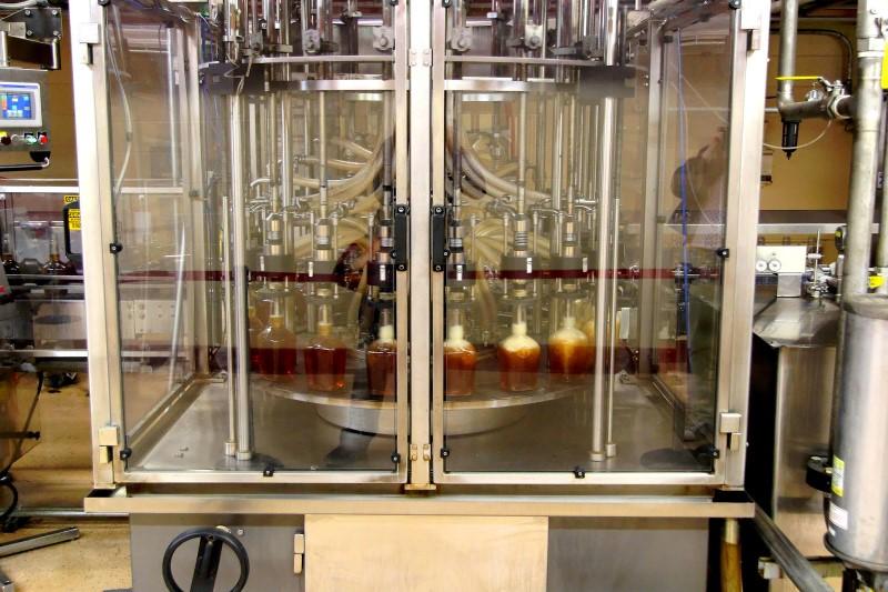 Maker's Mark distillery bottling line