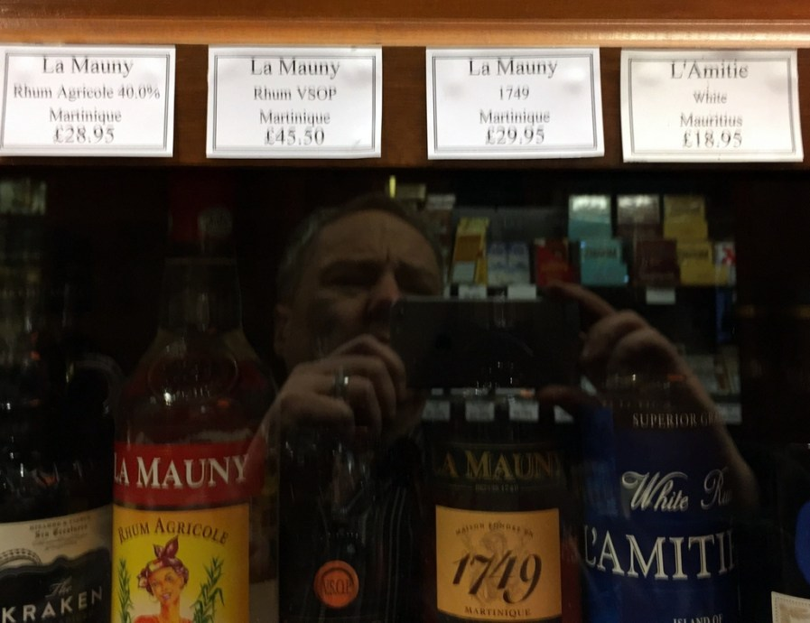 Scanning for rums at the Vintage House, London