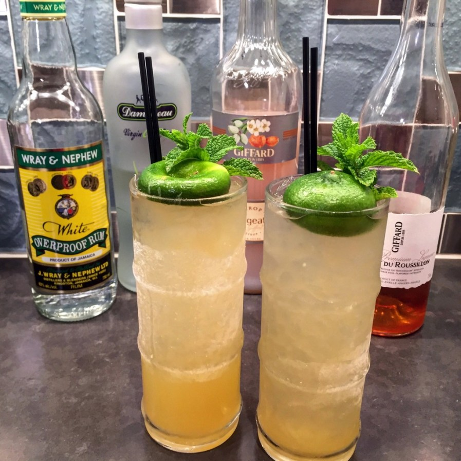 Using a spent lime shell as a garnish