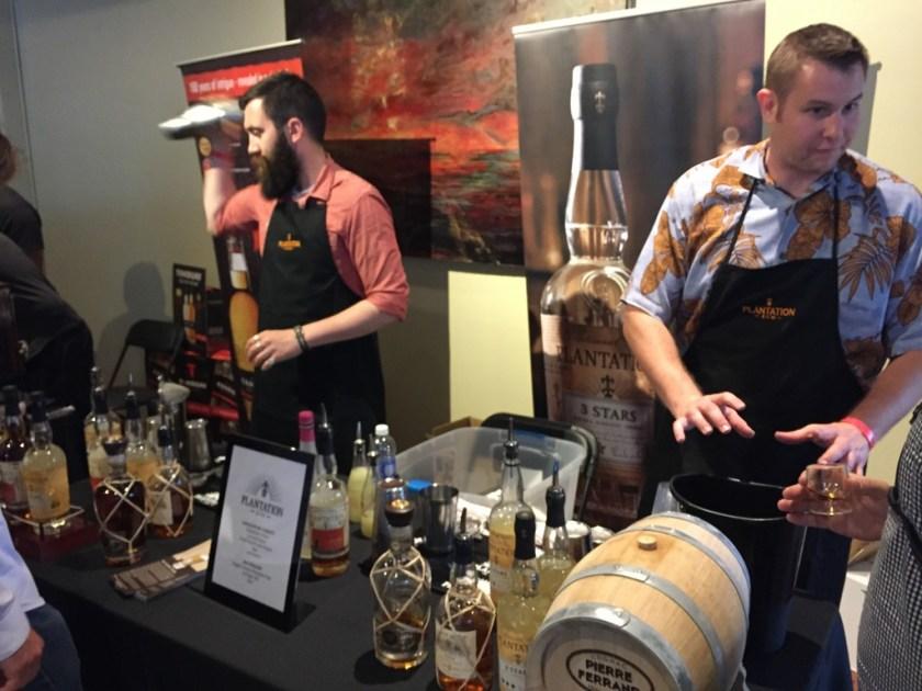 Plantation Rum booth at California Rum Fest 2015