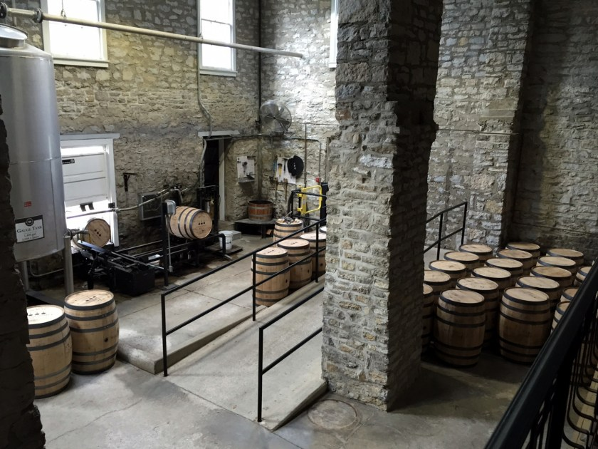 Woodford Reserve barrel filling