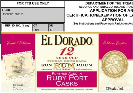 Stalking the TTB: Upcoming U.S. rum releases from El Dorado, Rhum JM, Skotlander and more – Nov-Dec 2015
