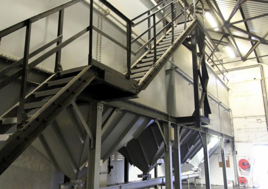 Grain bins at Bowmore