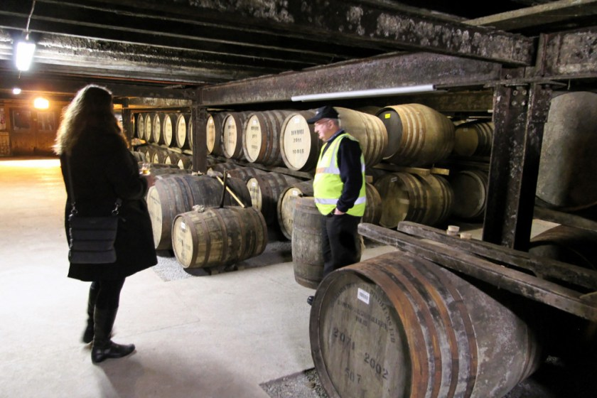 The legendary No. 1 vault at Bowmore with Mrs. Wonk and Eddie Macaffer