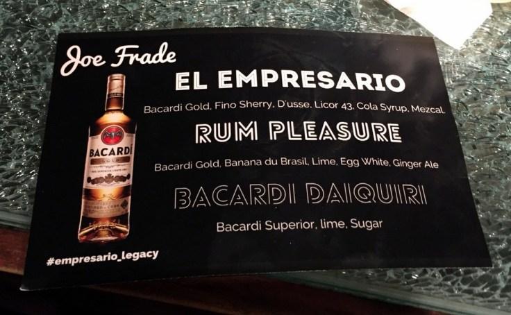 Bacardi National Daiquiri Day Bar Crawl 2016 - Joe Frade at Victory