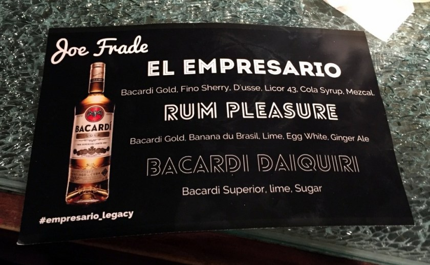 Bacardi National Daiquiri Day Bar Crawl 2016 - Joe Frade at Victory