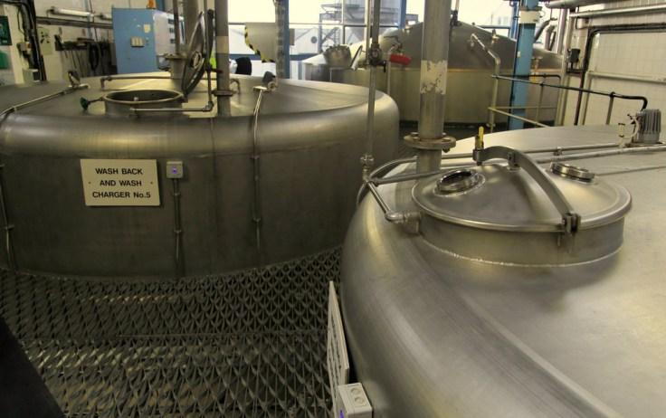 Washbacks at Laphroaig distillery