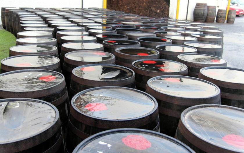 Barrels at Laphroaig distillery
