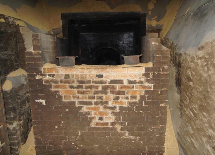Inside the peat kiln, Bowmore distillery