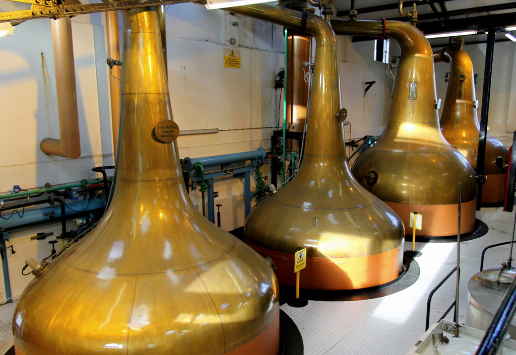 Pot stills, Bowmore distillery