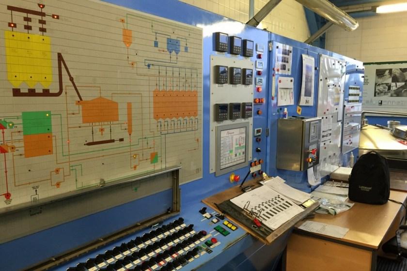 Mash operator console at Laphroaig distillery