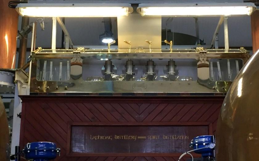 Spirit safe at Laphroaig distillery