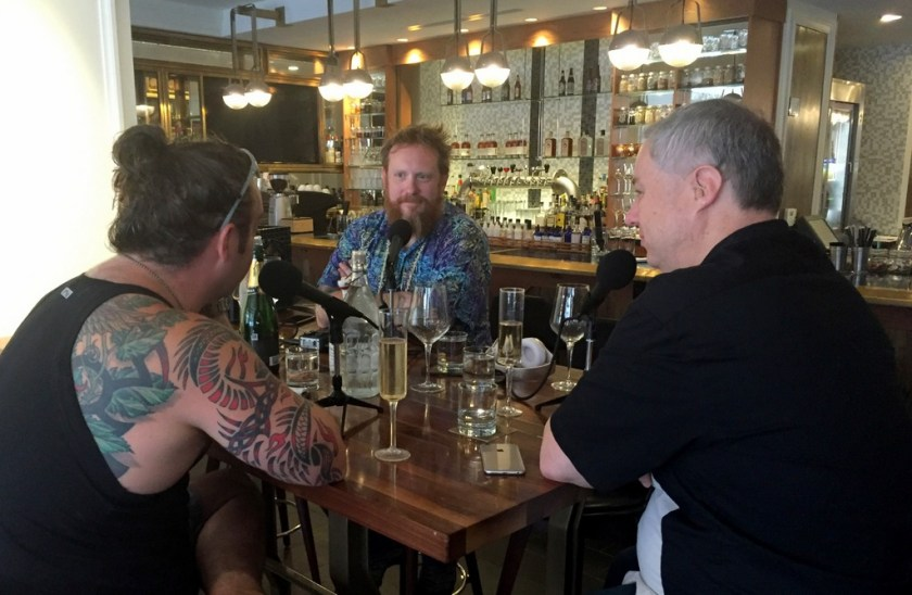 Recording a Shift Drink Podcast at Spoke & Steele, Indianapolis