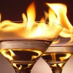 cocktail fire garnish tiki