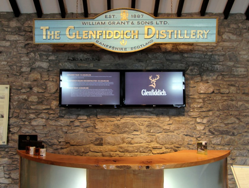 Visitor's center, Glenfiddich Distillery