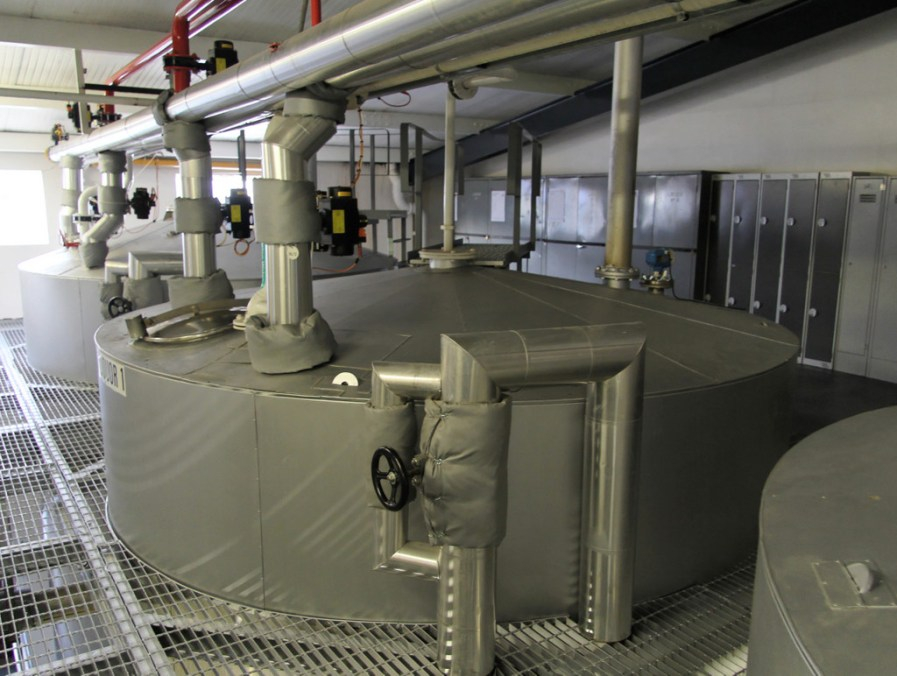 Hot liquor tanks, Glenfiddich Distillery
