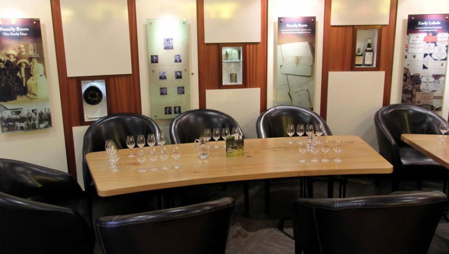 Dramming room, Glenfiddich Distillery