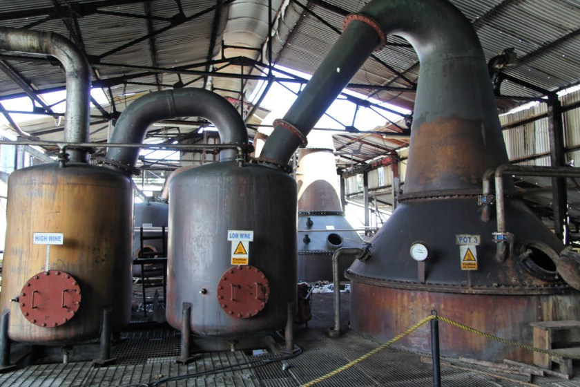 A pot still at Hampden Estate, Jamaica