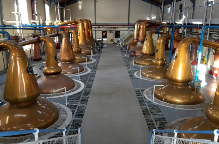 Pots stills in Still House #2, Glenfiddich Distillery