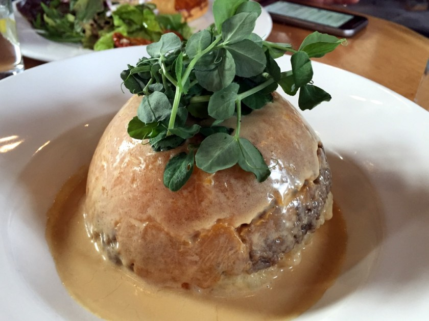 Haggis, neeps and tatties at the Malt Barn, Glenfiddich Distillery