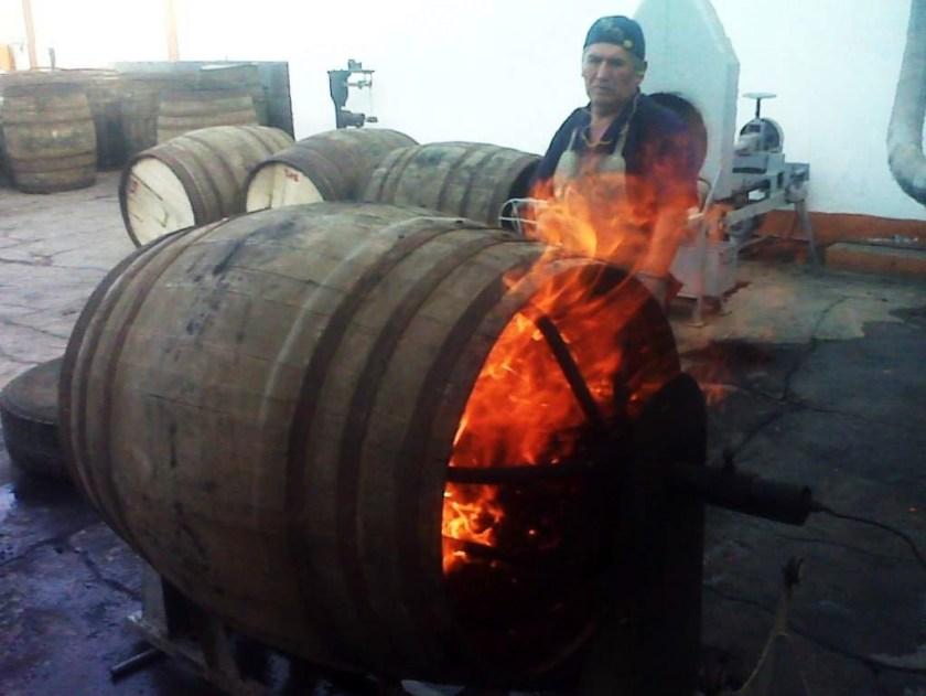 Barrel charring at Ron Cartavio, Peru