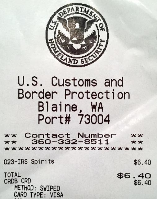 Over my duty free limit. I owe $6.40.
