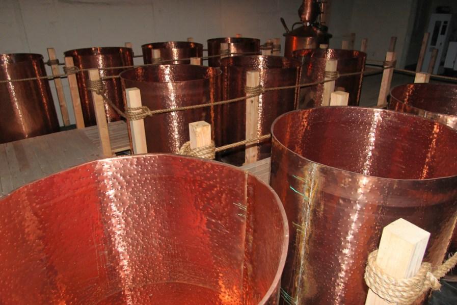 Molasses fermentation tanks, Lost Spirits Los Angeles Distillery