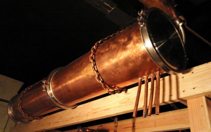 Spirit vapor condenser, Lost Spirits Los Angeles Distillery