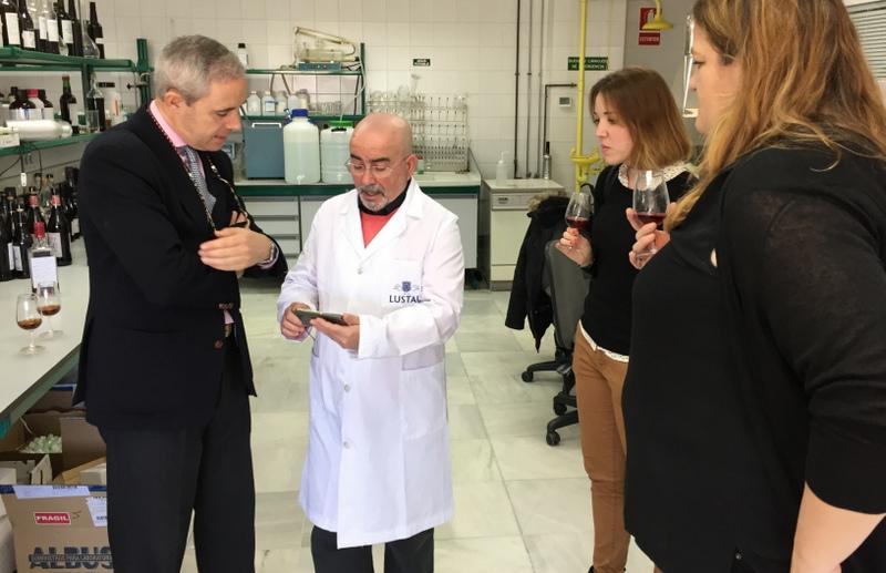 At the Caballero lab, El Puerto de Santa María