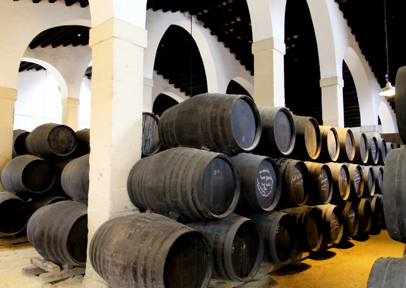 Sherry casks at González Byass