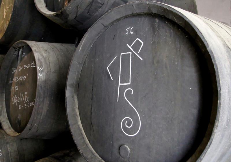 González Byass cask drawn by Luis Pérez Solero
